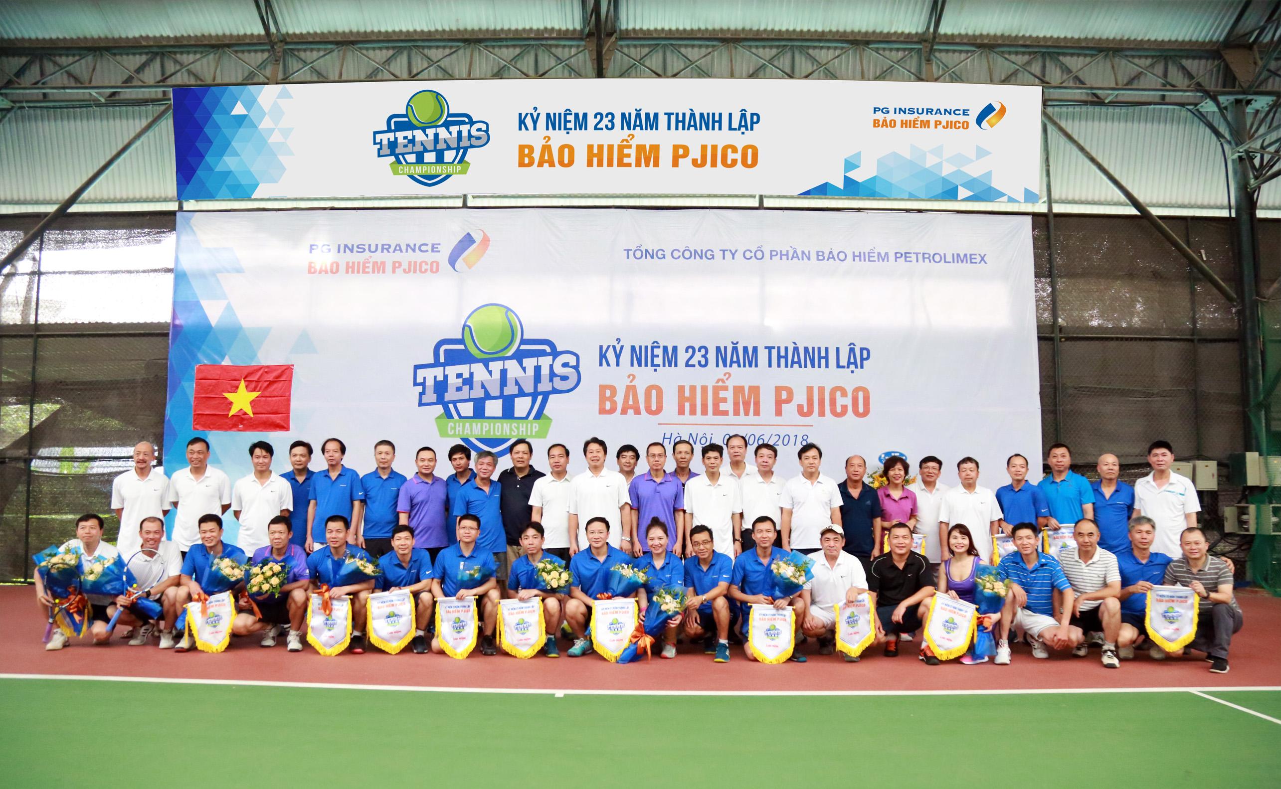 PJICO tổ chức Giải giao lưu tennis nhân kỷ niệm 23 năm thành lập