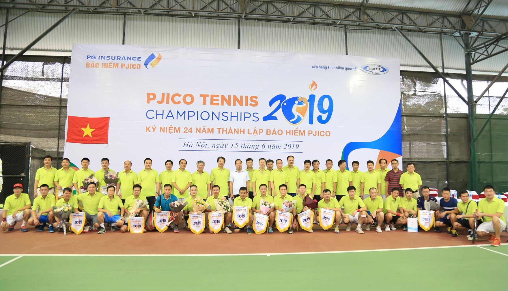 Sôi động Giải tennis chào mừng Ngày thành lập PJICO